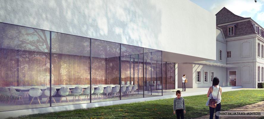 Construction d une annexe la commanderie de rixheim mp for Piscine de rixheim